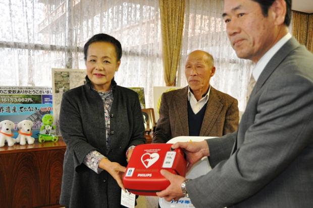 AED寄贈 内藤1